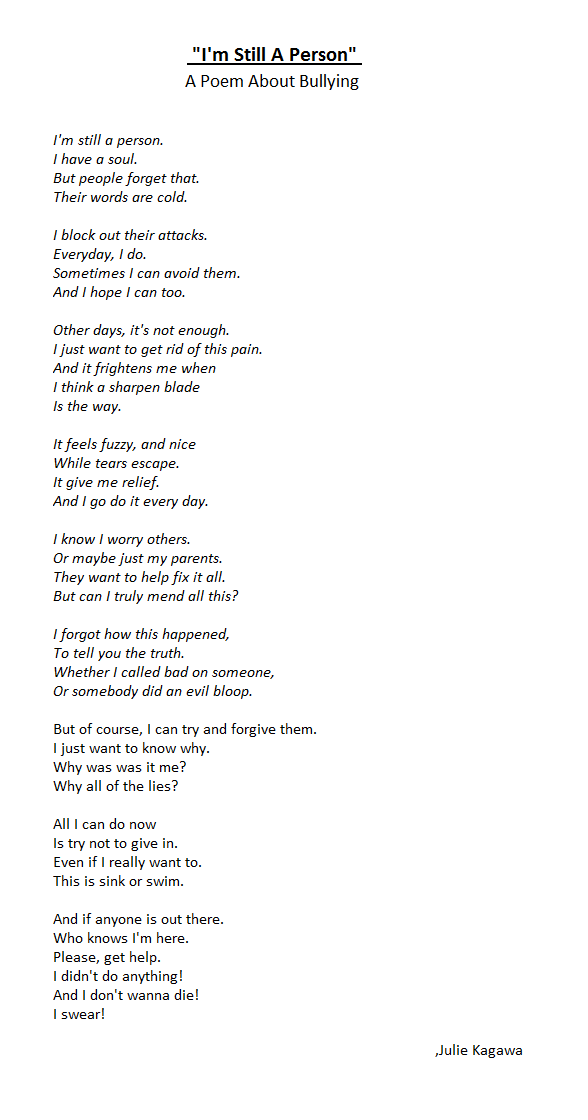 poem for sick person