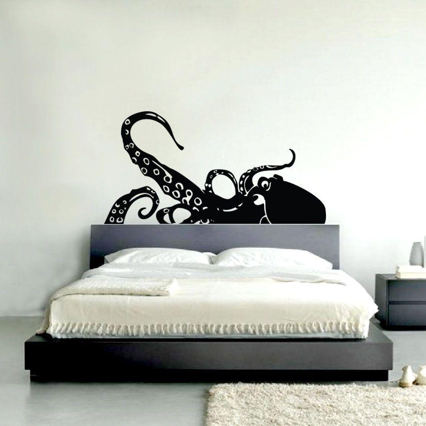 details about giant squid wall art decal sticker vinyl transfer decor mural octopus beach sea