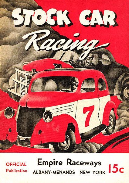 1950 Stock Car Racing Empire Raceways Albany Ny Program