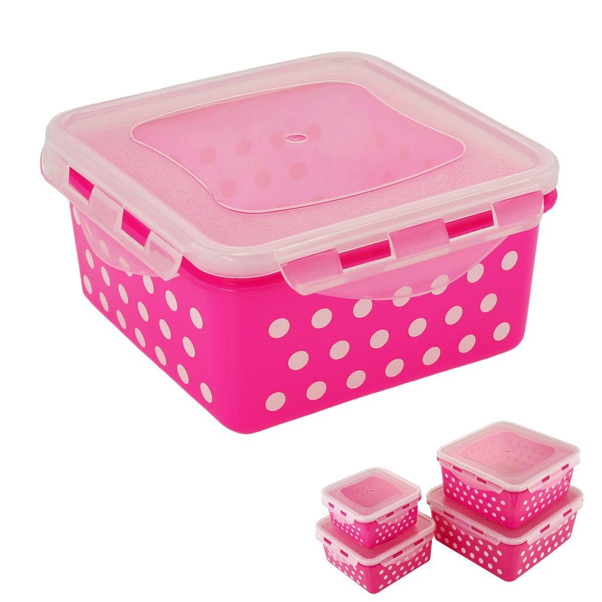 kitchens    locking square airtight food storage     locking square airtight food storage container set of 8 pink      rh   pinterest com