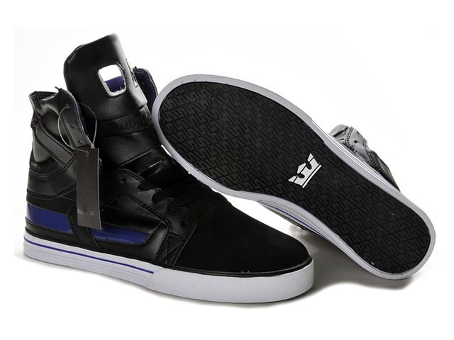 d1febc66d129 Supra Skytop II Black White Purple Men s Shoes