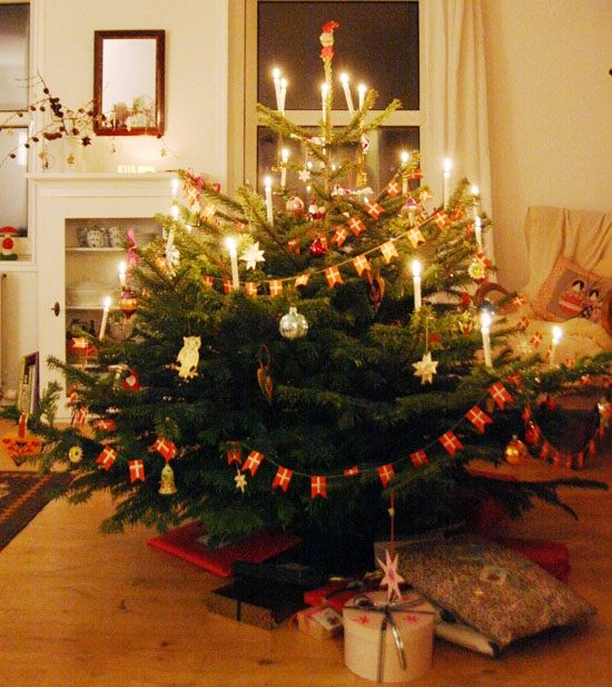 Danish Christmas Trees: I Love Christmas In Denmark! The Candles On The Tree Would