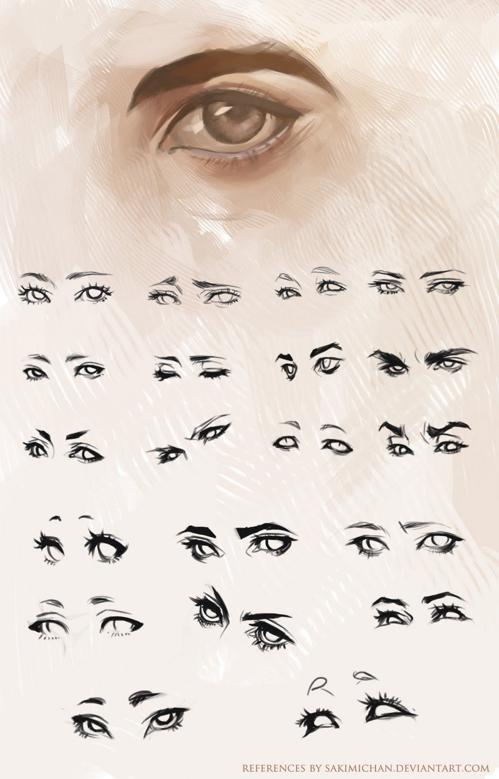 Different Eye Brushes: How To Draw Different Eye Expressions