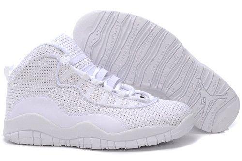 white 10 jordans