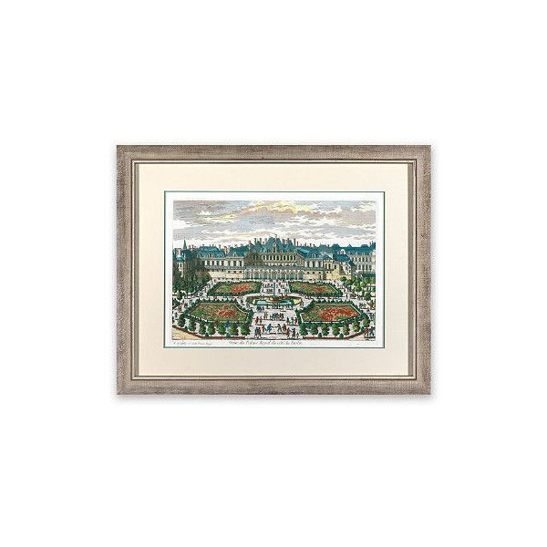 Jardin Versailles I Wall Art ($399) ❤ liked on Polyvore featuring home, home decor, wall art, garden wall art, european home decor, parisian wall art, floral wall art and framed wall art