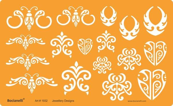 drawing drafting template stencil for art craft jewellery jewelry