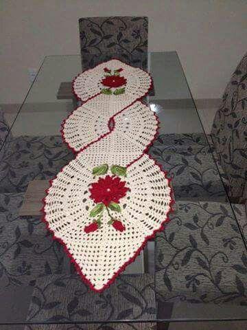 Caminho De Mesa Kerst 코바늘 뜨개질 En 크로셰 패턴