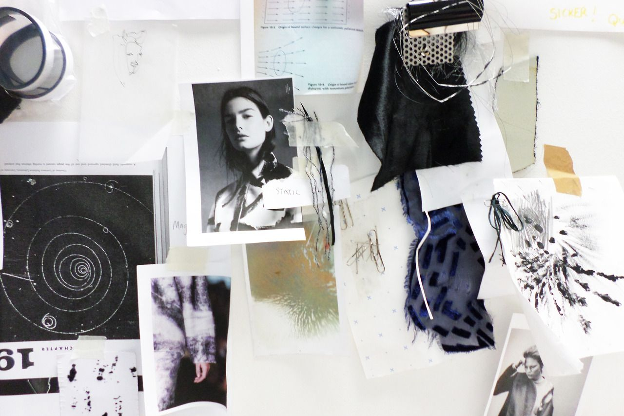 Fashion Moodboard Forces Of Attraction Theme Development Research Fabric Ideas Fashion Design Proce Mood Board Fashion Fashion Collage Fashion Sketchbook
