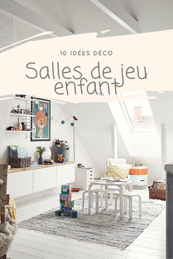 10 id es d co pour la salle de jeux des enfants salles de jeu enfant pinterest blog et d co. Black Bedroom Furniture Sets. Home Design Ideas