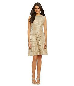 Adrianna Papell Shimmer A-Line Dress