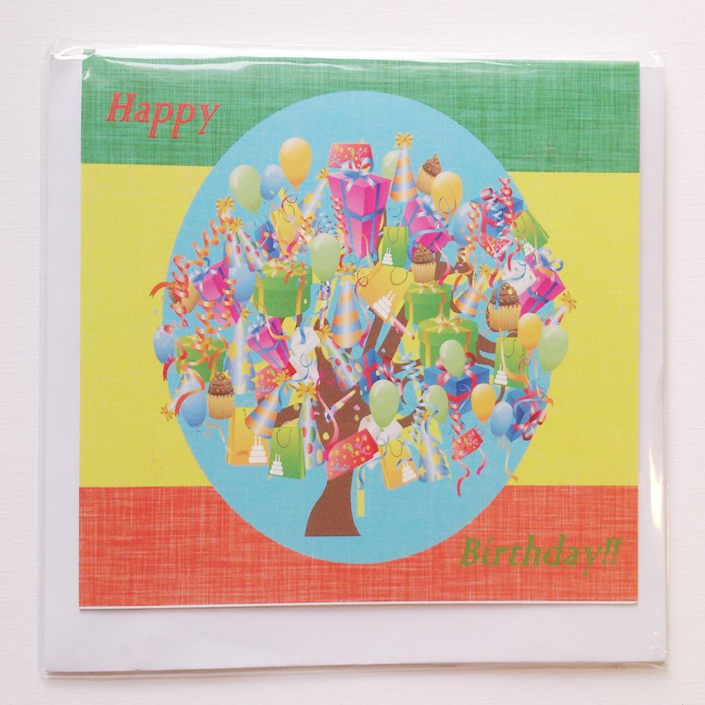 Birthday greeting card in Amharic, Oromo and Trigrinya languages