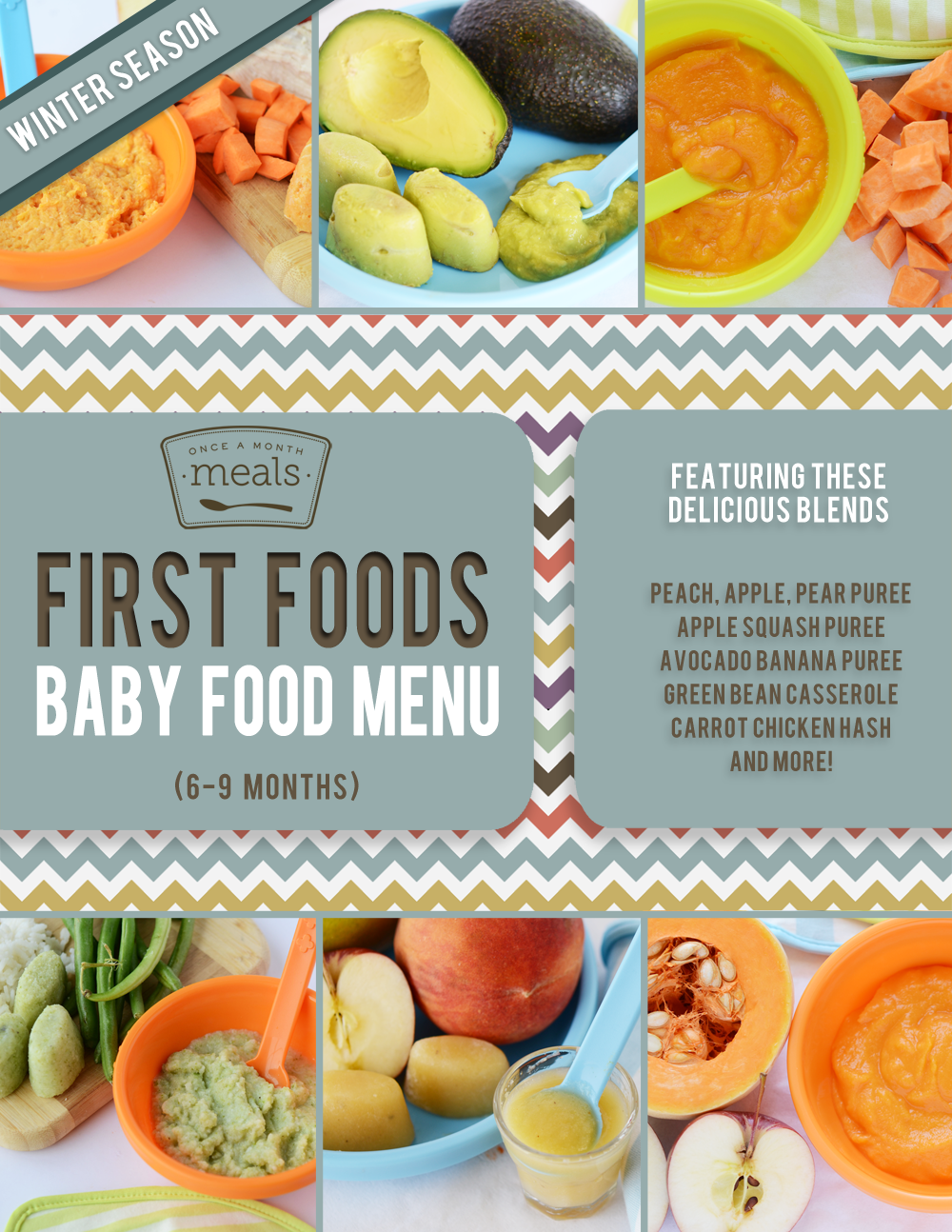 First Foods (69+ Months) Winter Baby Food Meal Plan