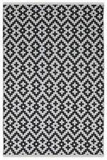 Fab Habitat - Indoor/Outdoor Rug - Samsara - Black & White