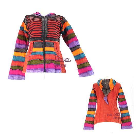Alternative Kleidung baumwoll patchwork jacke diverse farben ethno kleidung