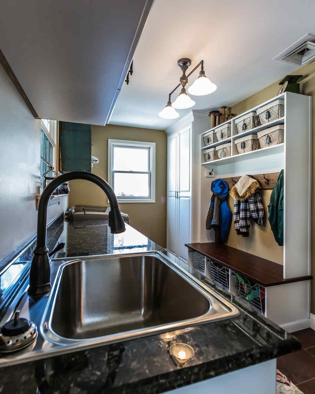 A Mudroom Kitchen Combo Gets Spotless Makeover Martha