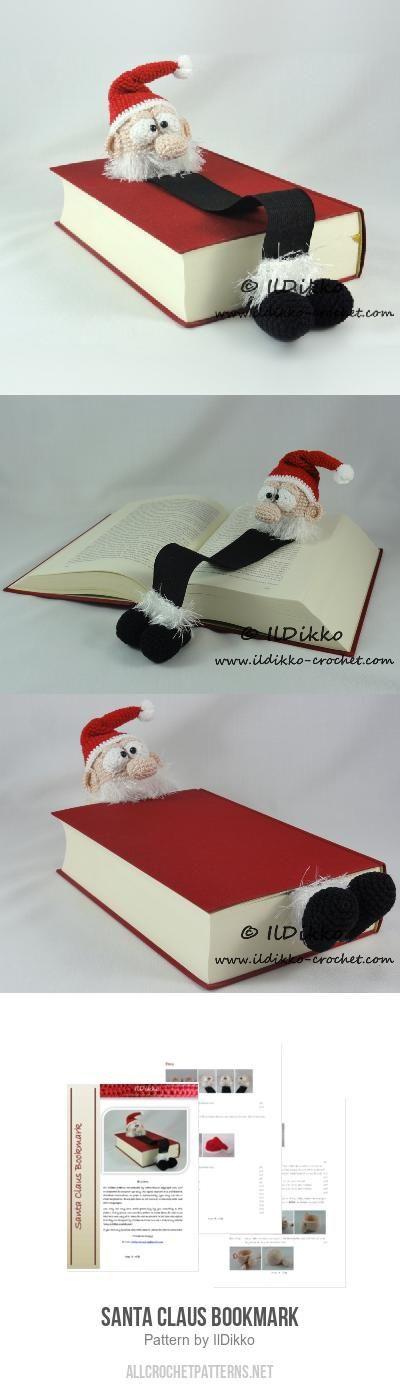 Santa Claus Bookmark crochet pattern by IlDikko | Häkelmuster und ...