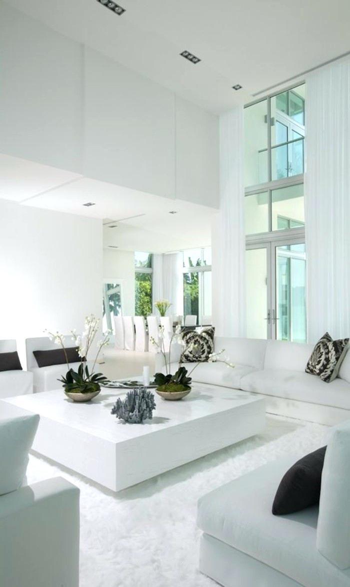 wohnzimmer in weiß gestalten   Living room sofa, Living ...
