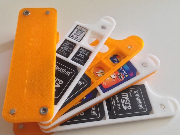 SD/microSD holder customizable by hackermagnet - Thingiverse