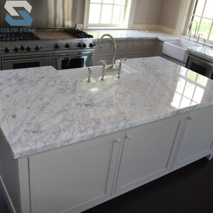 Cheap Laminated Bianco Carrara Marble Countertop White Marble