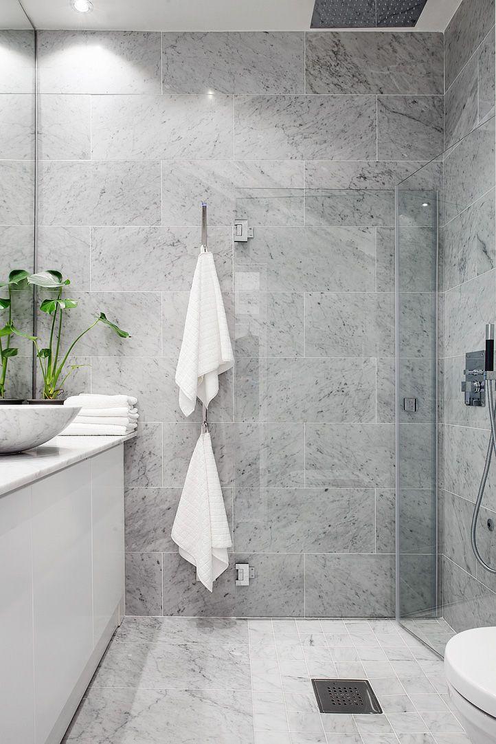 Grey Marble Bathroom natural grey tiles// …   campbell's bathroom   pinterest   grey