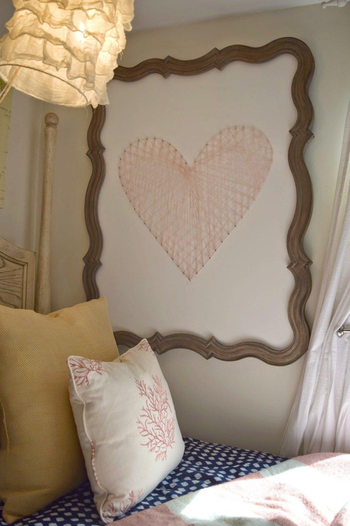 Diy String Art Heart Tutorial