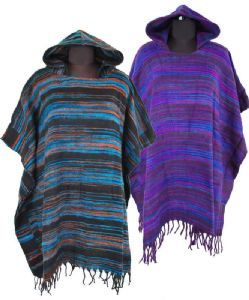 Hooded Scarf Acrylic Wool Cashmelon Stripe Soft Warm Winter Hippy Boho Cosy Wrap