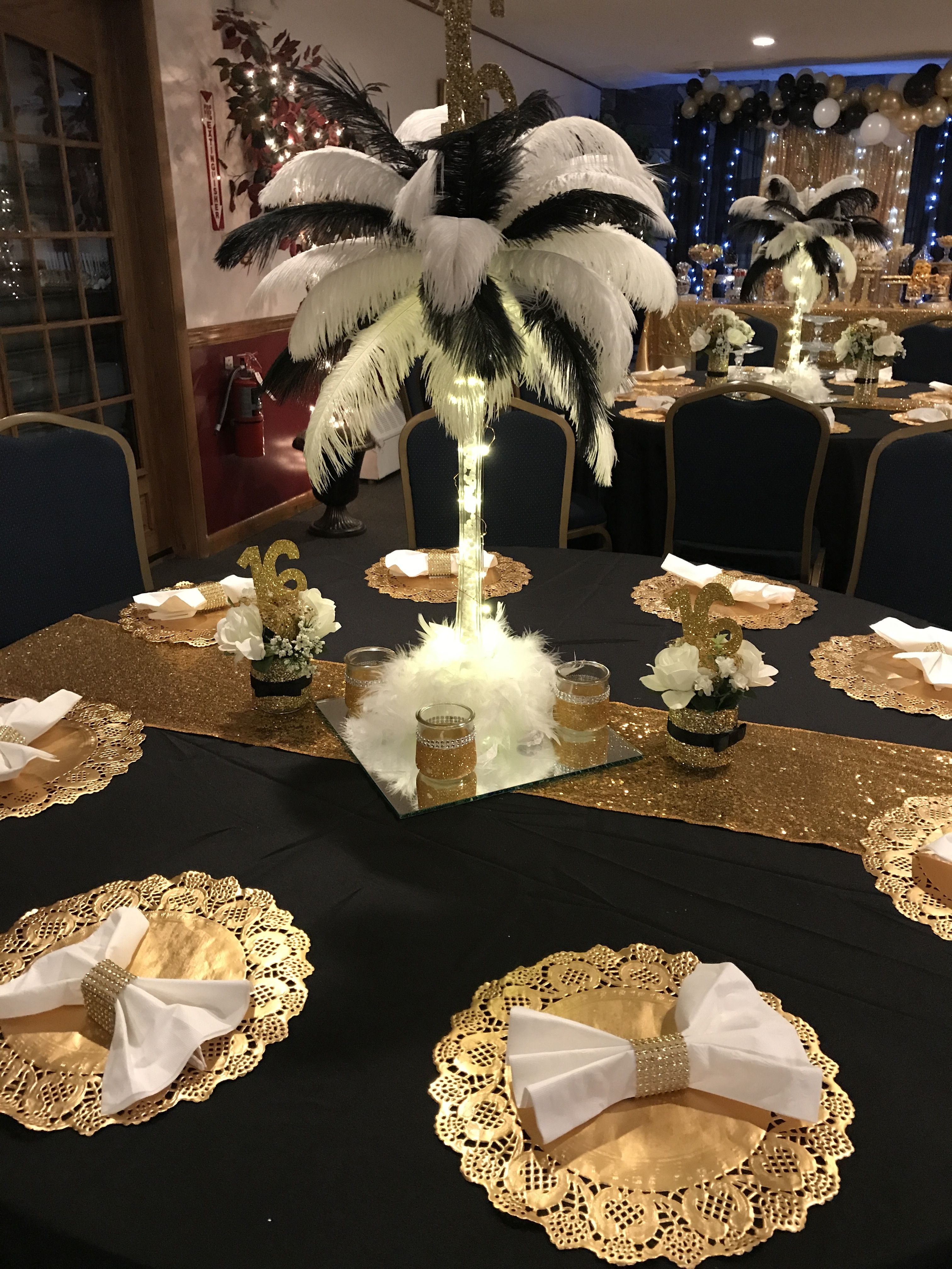 Great Gatsby Sweet 16 Birthday Party Decorations Gatsby Themed