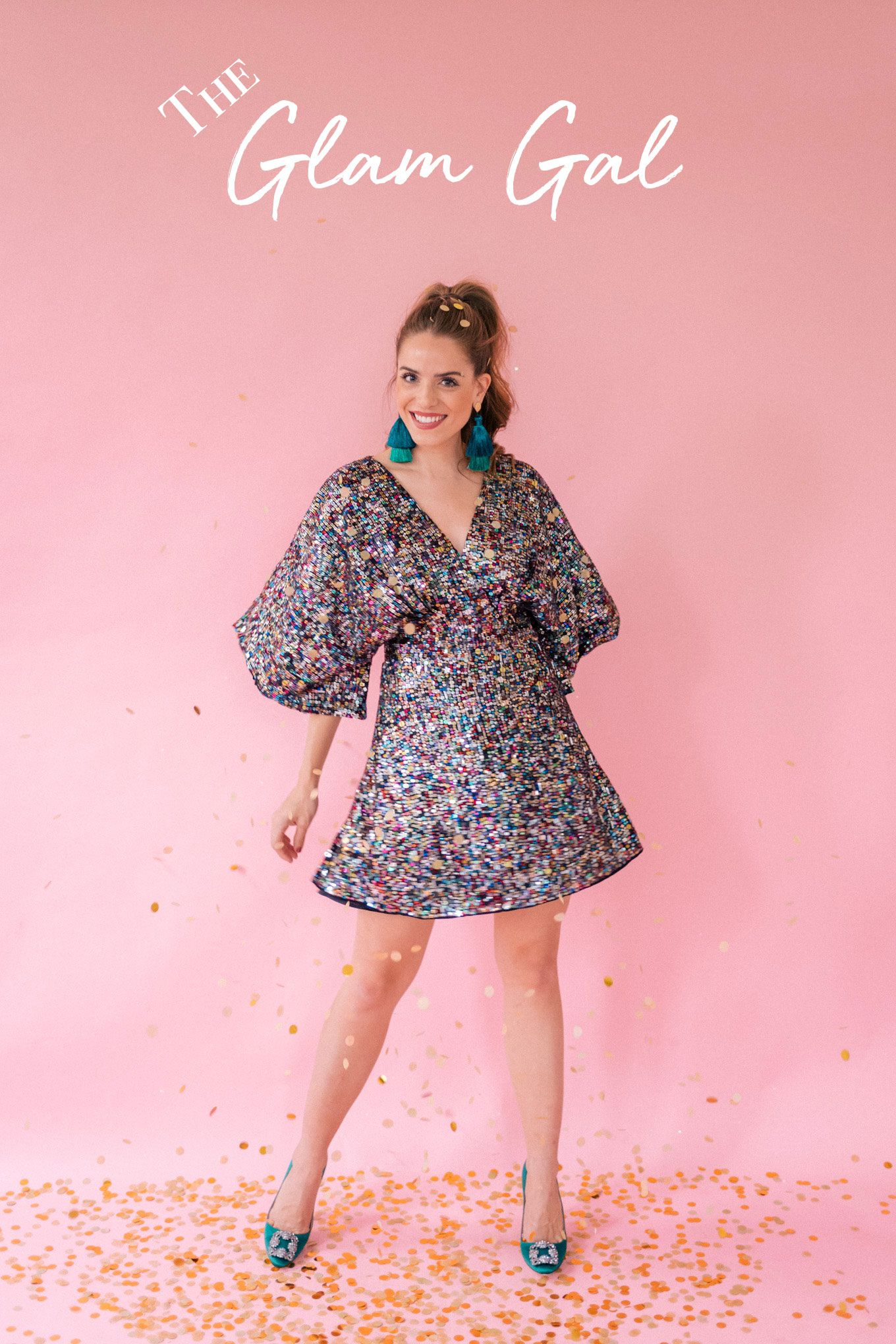 Gal Meets Glam 4 Holiday Party Styles - The Glam Gal BHLDN Dress ...