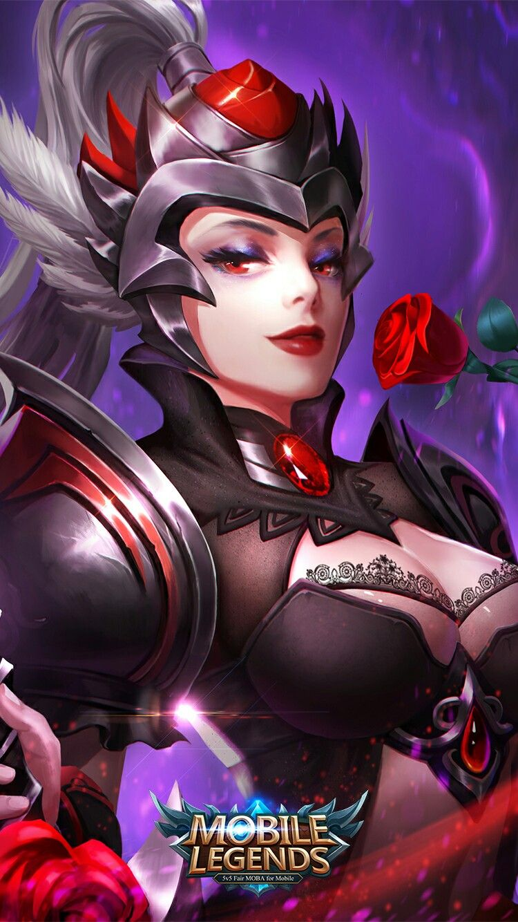 Mobile Legends Freya Dark Rose Mobile Legend Wallpaper