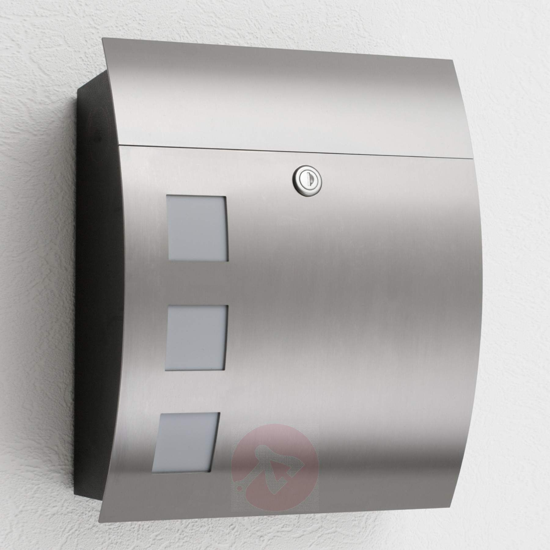 Alani High Quality Letterbox With Stainless Steel 2011001 01 Letter Box Post Box Wall Mounted Post Box Modern
