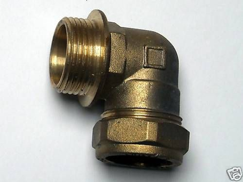 15MM S 22MM BRASS COMPRESSION PLUMBING FITTING ELBOW SIZE