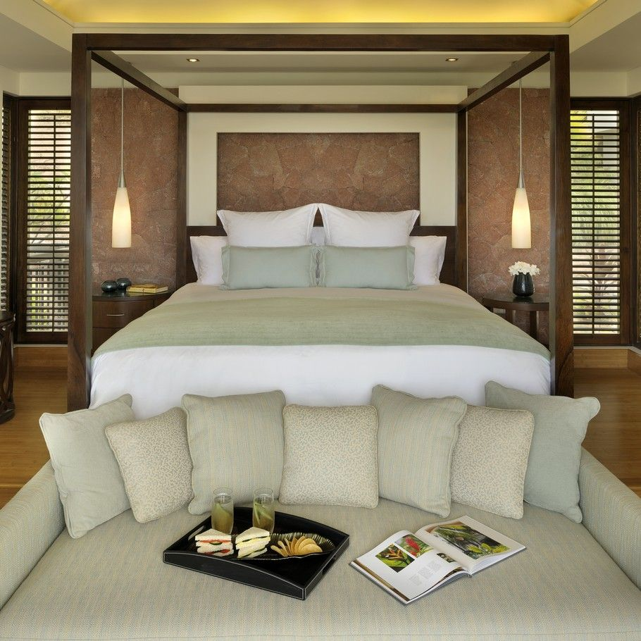 So Elegant Love A Sitting Area In A Master Bedroom By: Perfect Symmetry: The Luxury Raffles Resort, Seychelles
