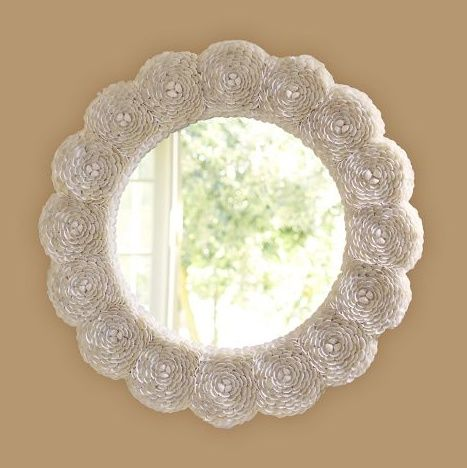 Mirrors For Little Girls Room | Interior Canvas Blog / Shell Rosette Mirror - Little Girls Rooms ...