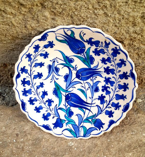 Hand Made Turkish Ceramic Plate / Wall Decor by Turqu50 on Etsy $20.00 & Hand Made Turkish Ceramic Plate / Wall Decor | Plate wall decor ...