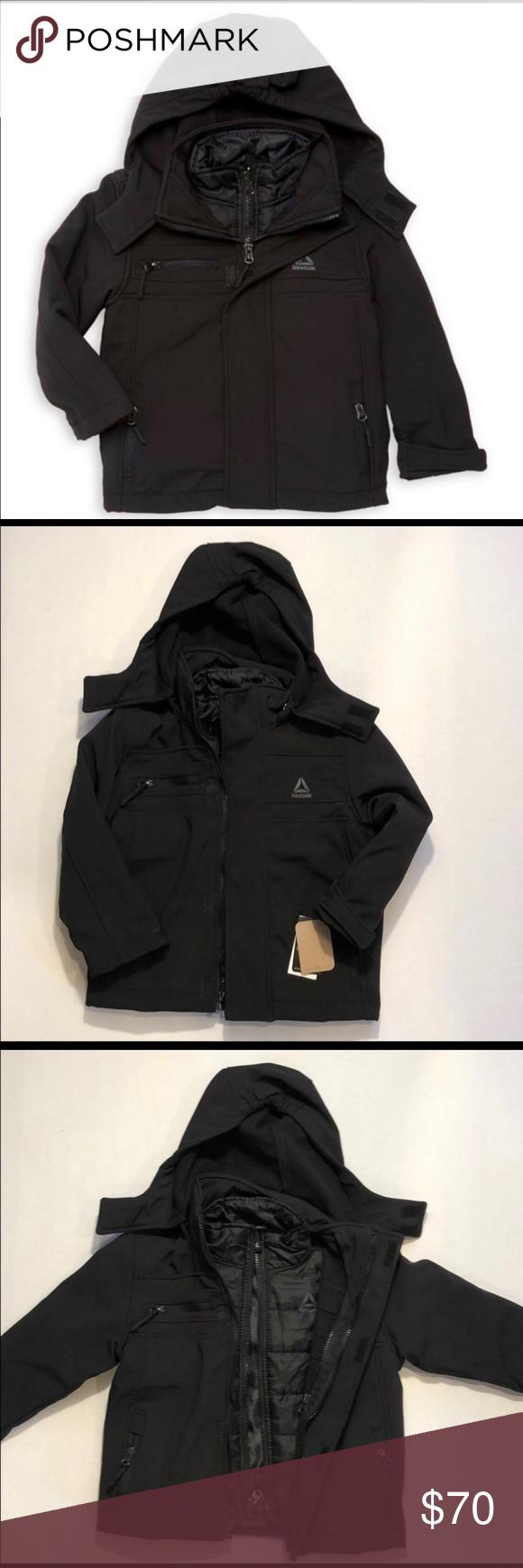 Reebok Boys Active Zipped Jacket With Hood 4t Hooded Jacket Jackets Zip Jackets [ 1740 x 580 Pixel ]