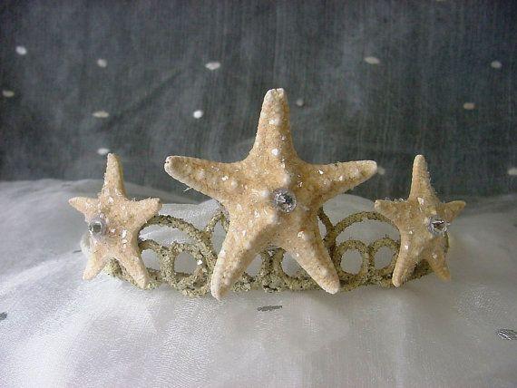 Mermaid Crown Baby Starfish Tiara for Beach Wedding Festival Costume Prom