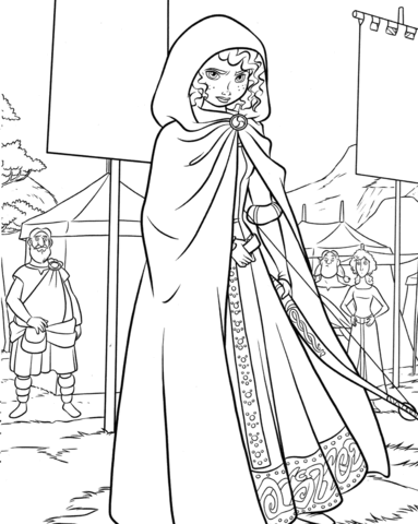 Princess Merida On A Highland Games Coloring Page Free Printable Coloring Pages Disney Princess Colors Disney Coloring Pages Princess Coloring