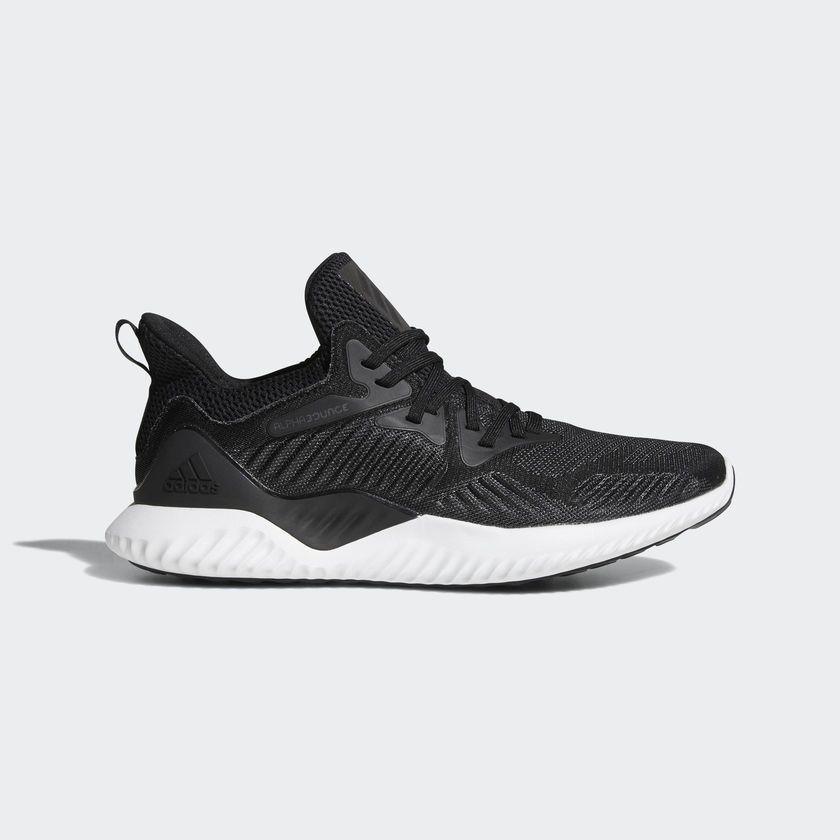 new arrival 7a760 3cdb7 adidas AlphaBounce Beyond Running Shoes Cushioning Walking Sports Black  AC8273 adidas RunningCrossTraining