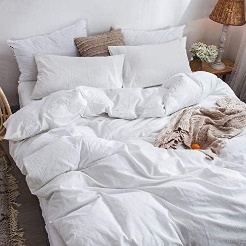 Amazon Com Moomee Bedding Duvet Cover Set 1 Comforter Cover 2 Pillow Shams 100 Washed Cotton Linen Lik Bed Duvet Covers Duvet Bedding Bedroom Duvet Cover