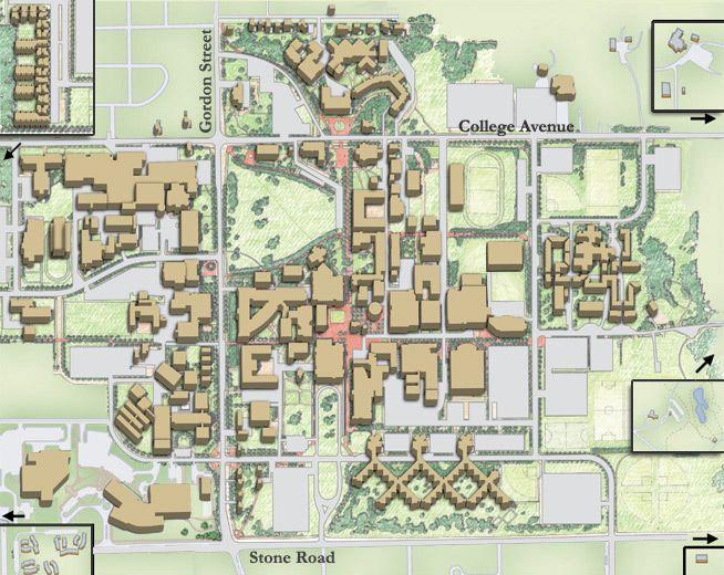 University Of Guelph Campus Map Guelph D Pinterest - Guelph map