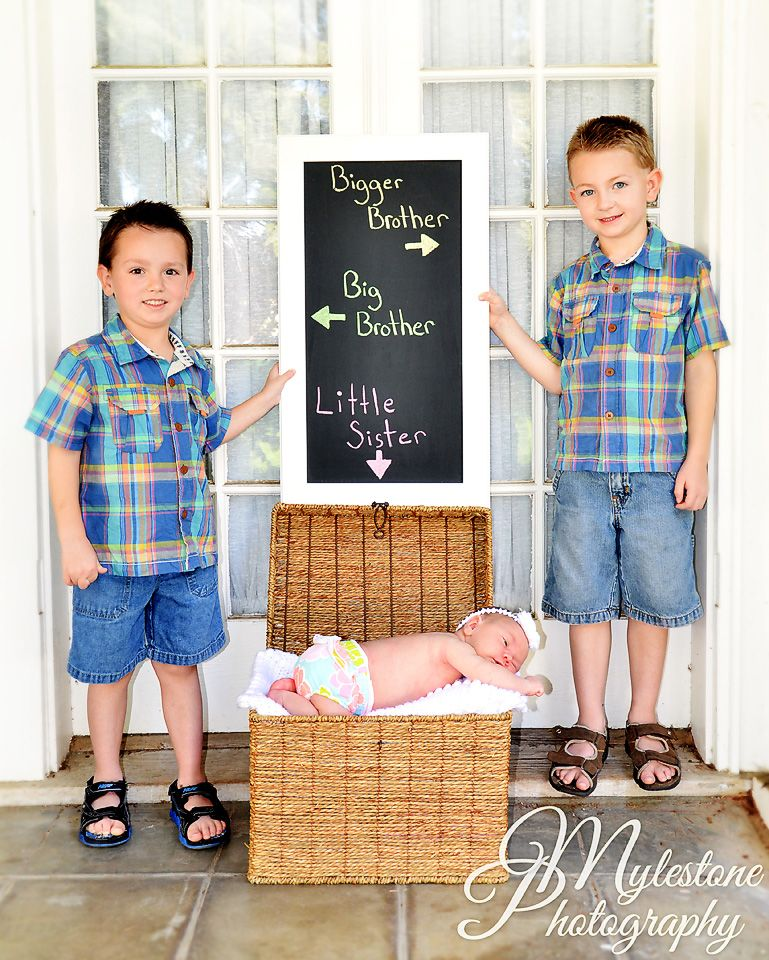Picture For Brother Sister: Brothers With Baby Sister Photo By Myle Collins Mylestone