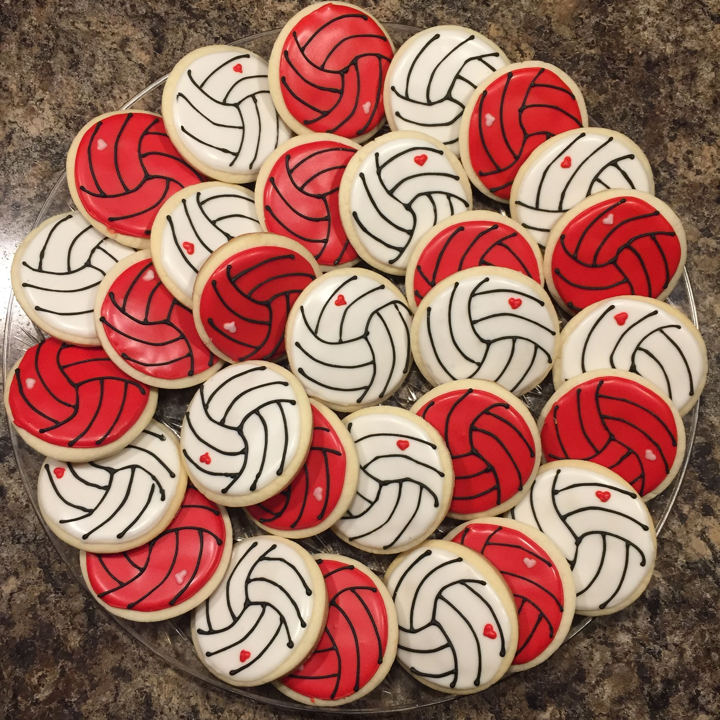 Volleyball Cookies Highschool Volleyball Royal Icing Sugar Cookies Decorated Cookies Volleyba Royal Icing Sugar Sugar Cookies Decorated Sugar Cookies
