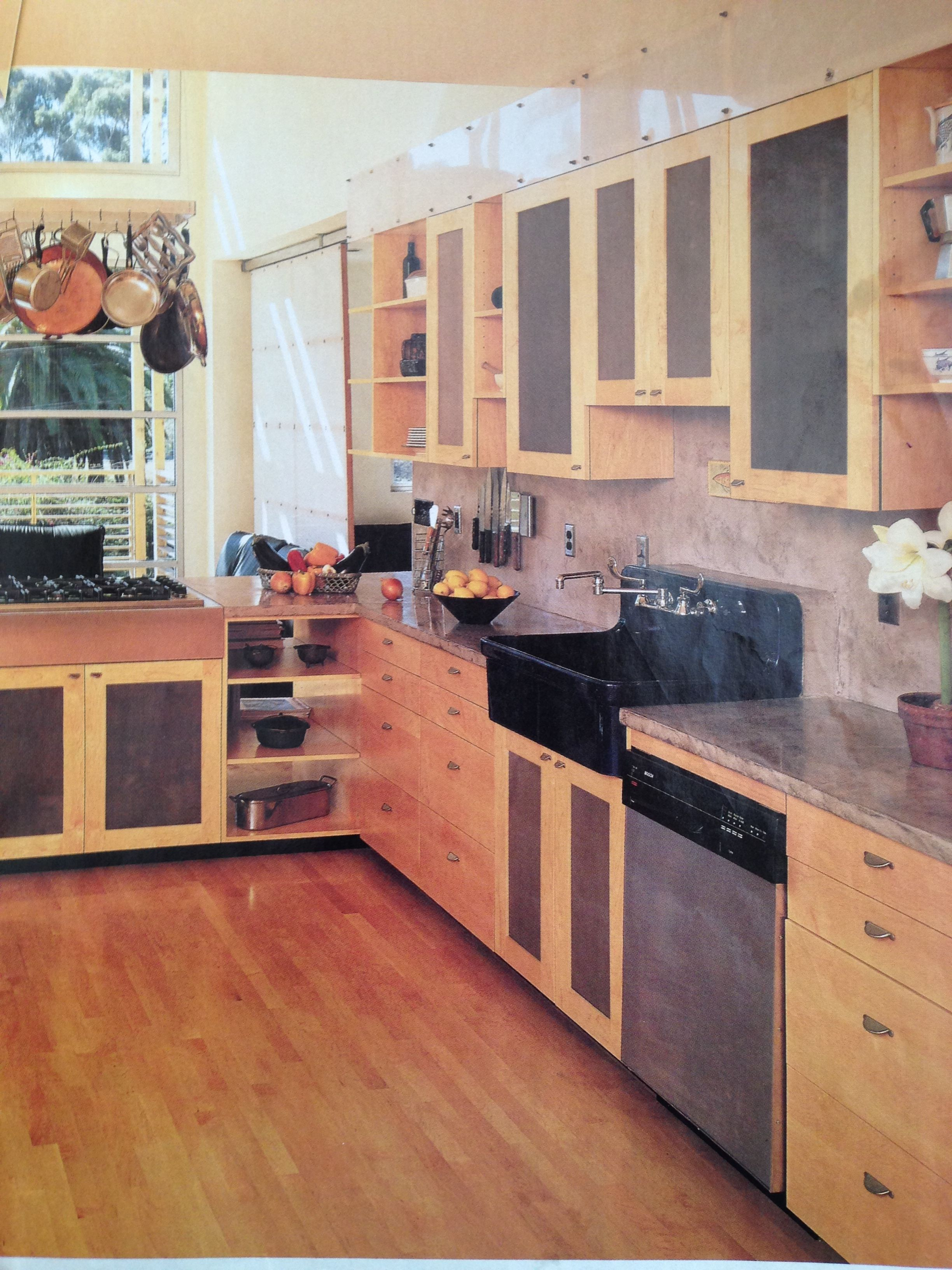 A Decade Old Clipping I Guess We Liked Color Insert Cabinet Doors Back Then Too The See Through Base Counter Shelving Is Kind O Yard Design Front Yard Design