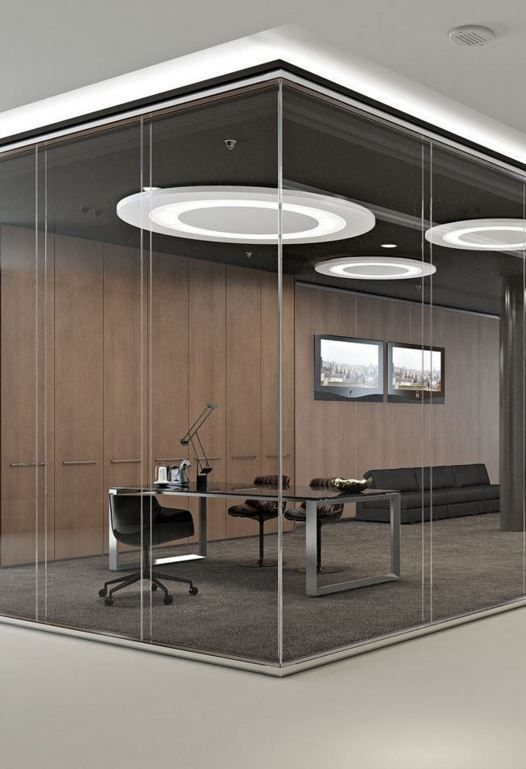 Kristal Twin Glass Partition Wall By Arcadia Componibili Gruppo