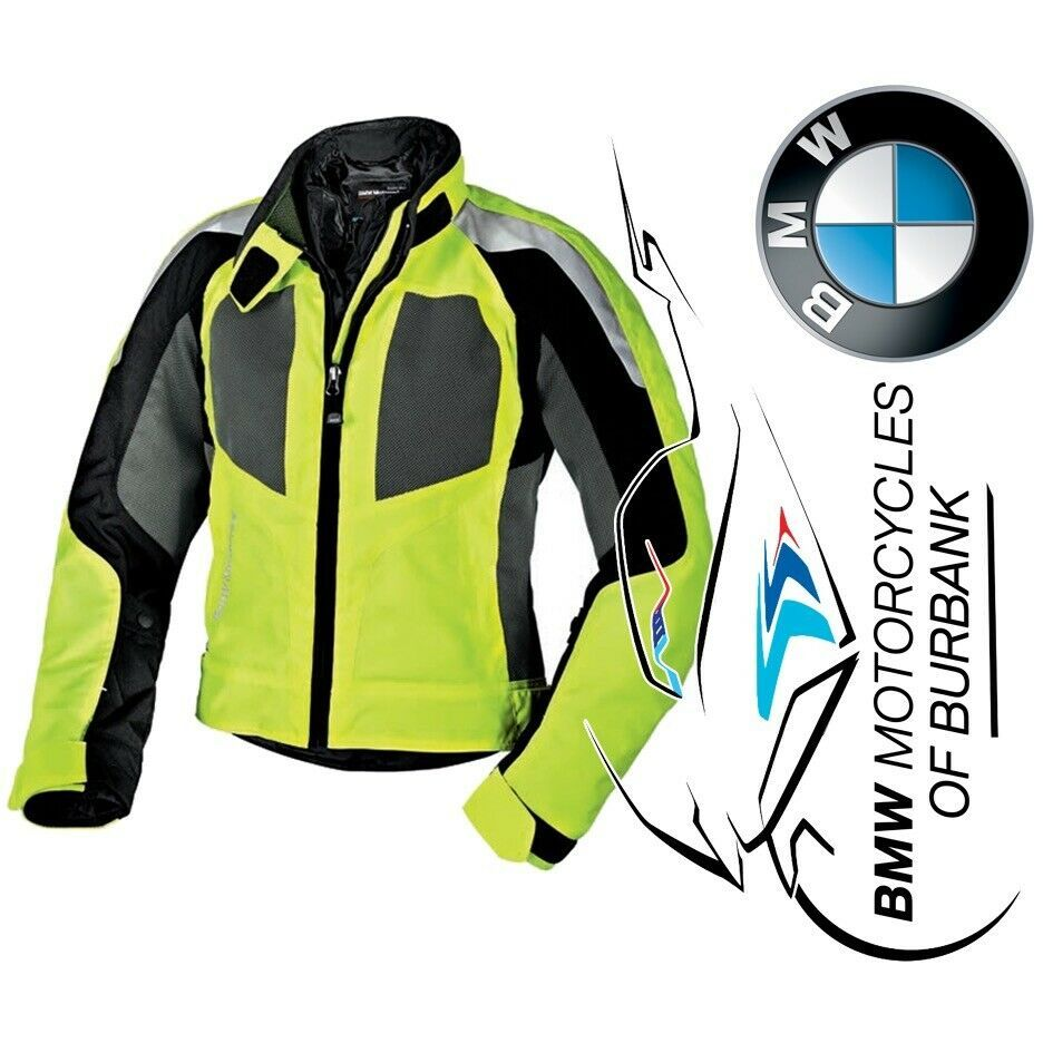 Ebay Sponsored Bmw Motorrad Motorcycle Genuine Airshell Neon Yellow Grey Jacket Women S Grey Jacket Women Blue Jacket Men Jackets For Women