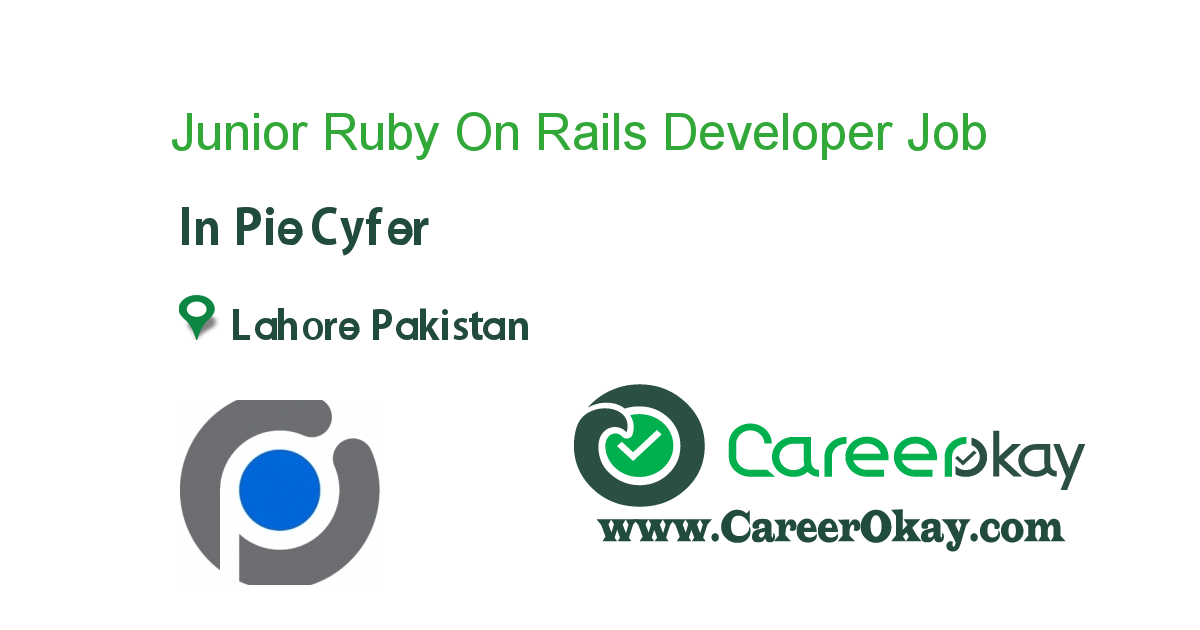 Junior Ruby On Rails Developer in 2020 Good