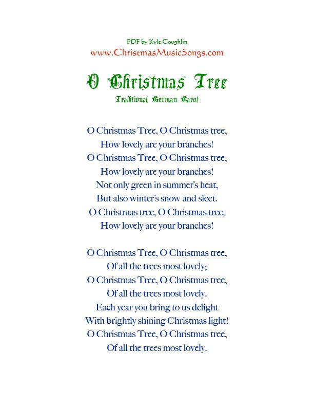 Printable Pdf Of The Lyrics To O Christmas Tree Christmas Tree Quotes Christmas Tree Bulbs Christmas Tree