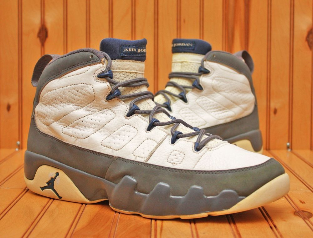 0810f9f47e7c 2002 Nike Air Jordan IX 9 Retro Size 12-White French Blue Flint Grey-  302370 141 in Clothing