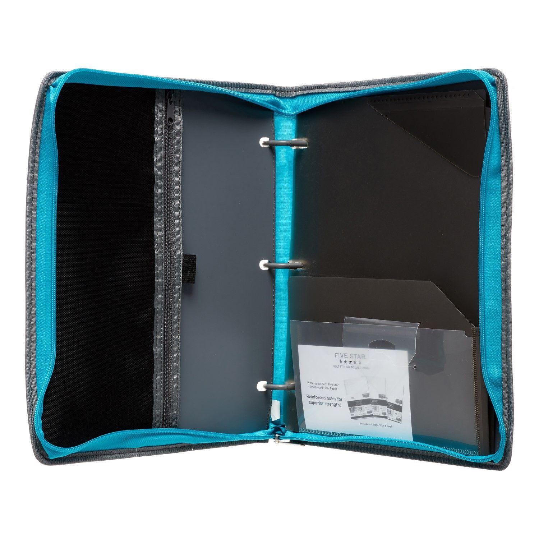 Five Star Flex Hybrid Zipper NoteBinder, 1 In., Teal