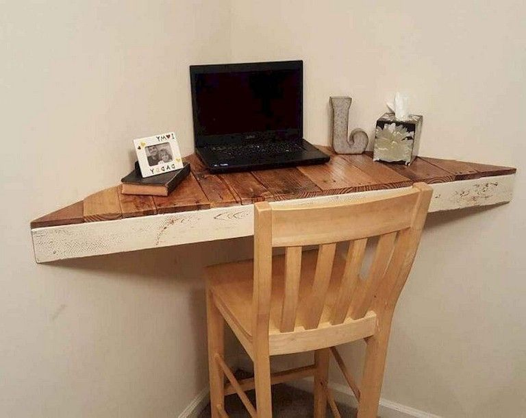35 Incredible Diy Farmhouse Desk Decor Ideas On A Budget Floating Corner Desk Diy Corner Desk Modern Corner Desk